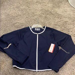 New Balance Blue Q Speed Crop Jacket
